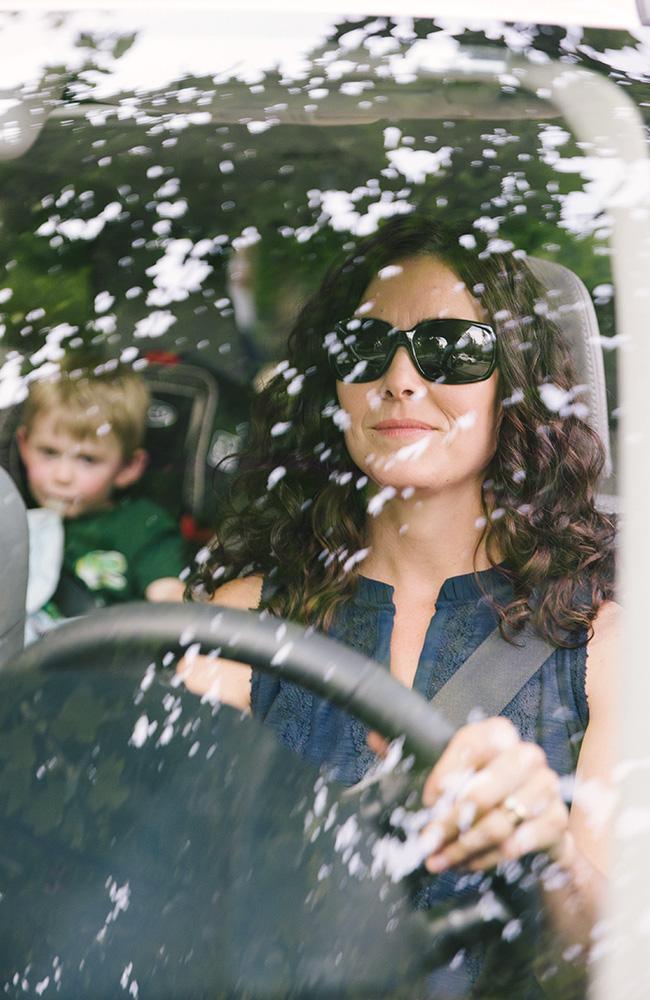 Mom driving