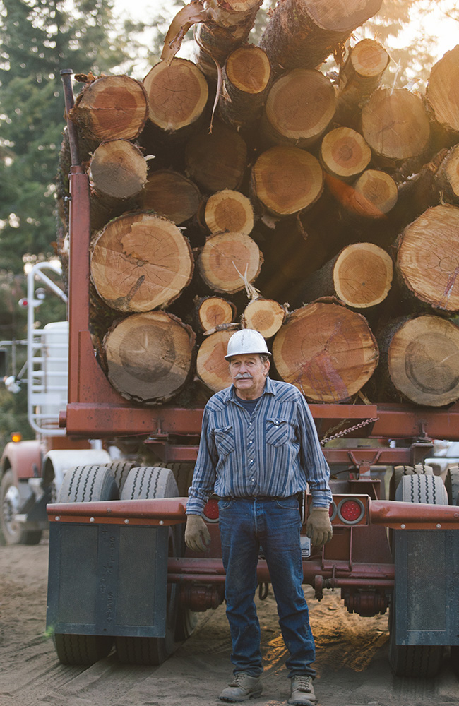 logger by truck